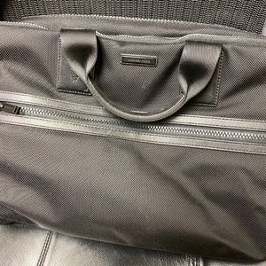 Michael Kors Men Nylon and Leather Briefcase